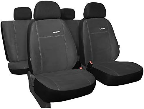 Pokter Alc T5 Multivan 7 Sitzer Maßgefertigte Sitzbezüge Comfort Dunkelgrau Auto