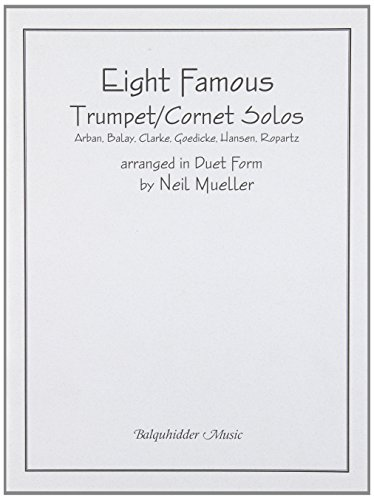Carl Fischer Eight Famous Trumpet / Cornet Solos Arranged in Duet Form Book -