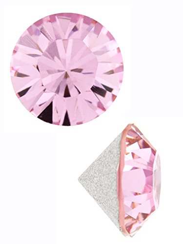 Swarvoski Elements Crystal Chaton, 2mm Foil Backed Light Rose (24pc) (Swarovski Chaton Rose)