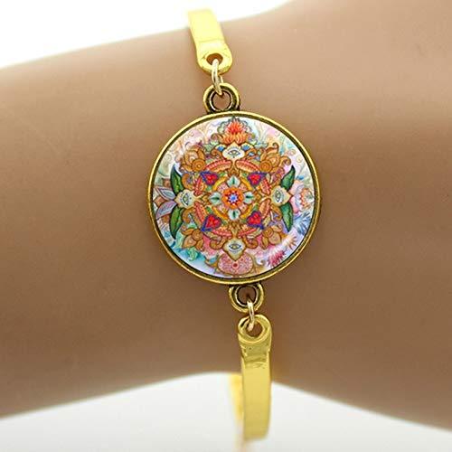- Chain & Link Bracelets - Metatron Cube Bracelet Chakra Cosmic Energy centres Charm Women Jewelry Beautiful Mandala Lotus Hinduism Bracelets T729 - by YPT - 1 PCs
