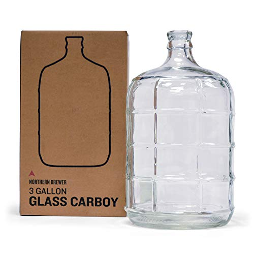 Northern Brewer - Glass Carboy Fermenter for Beer Brewing, Wine Making, Fermentation (3 Gallon) ()