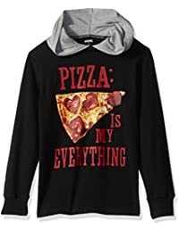 Gymboree Big Boys' Long Sleeve Hooded Pizza Tee