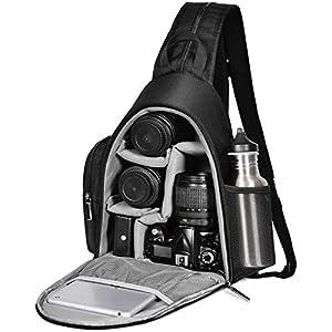 Best Epic Trends 41Uqc30mtPL._SS300_ Camera Backpack, CADEN Water Repellent Camera Sling Crossbody Backpack Bag, Dual Use Professional SLR DSLR Photo…