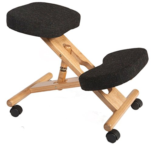 Ergonomic Kneeling Chair - Charcoal - Suitable for Light Office Use to Promote Good Posture