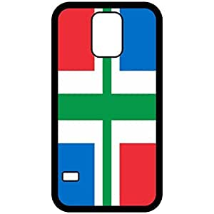 Groningen Flag Black Samsung Galaxy S5 Cell Phone Case - Cover