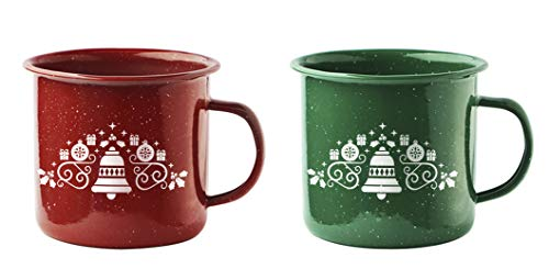 - Asobu Happy Holiday Trails Classic Country Camper Coffee and Tea Mug 2 Pack(Bells)