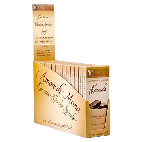 Caramela - Case of 14, 2.5oz Bars. Vegan, Organic, Non-GMO. Free of Gluten, Soy, Dairy, Peanuts, Tree Nuts, Sesame, Corn, Egg, & Other Common Allergens. Low Glycemic