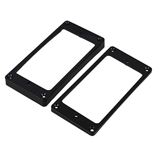 Lovermusic 90x45mm Black ABS Arc-shaped Electric Guitar Humbucker Pickup Mounting Rings Frames Bottom Pack of 2
