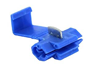 Alambre de soldadura de calibre ABN Quick Splice Conector 25Pack (14–Calibre Calibre 18, tamaño: 14–18), color azul (Azul), Modelo: 9241, Tools & hardware Store