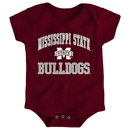 (Gen 2 NCAA Mississippi State Bulldogs Newborn & Infant Primary Logo Bodysuit, 12 Months,)