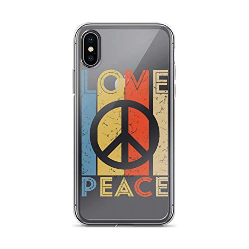 iPhone X/XS Pure Clear Anti-Shock Case Love Peace Freedom Vintage 60s 70s Hippie