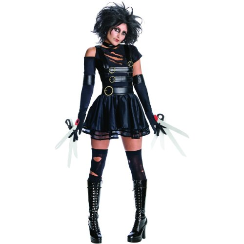 Secret Wishes Womens Edward Scissorhands Miss Scissorhands Costume, Black, Medium