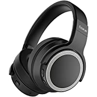 Active Noise Cancelling Headphones, iDeaPlay Bluetooth Headphones, Wireless Over Ear Headset with Microphone,24 Hours Playtime, Comfortable Headphones for TV, Airplane - Black