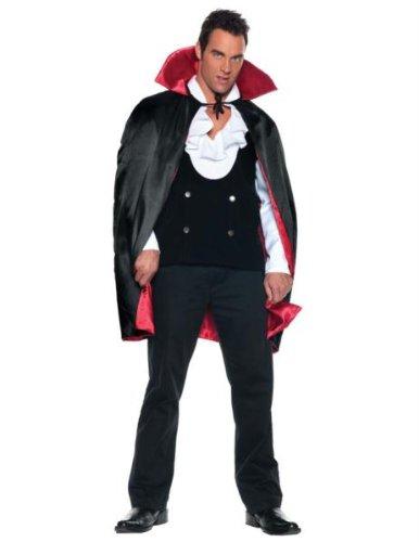 """38"""" Deluxe Reversible Satin Cape Costume Accessory"""