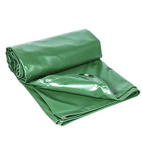 病気の削る道徳のQIANGDA トラックシート荷台カバー防水 PVC 高効率シェーディング 耐久性のある使用 木材の保護 (厚さ0.4mm)複数の寸法 (色 : Green, サイズ さいず : 4.8 x 5.8m)
