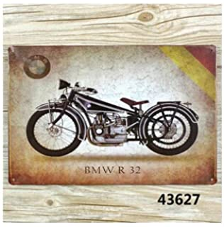 Amazoncom Metal Tin Sign X From Photos Flying Merkel - Bmw motorcycle tin signs