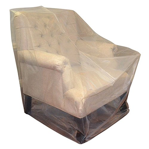Furniture cover plastic bag for moving protection and long term storage chair patio Furniture plastic cover