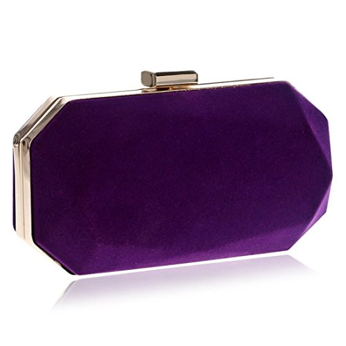 Bag Purple Blue Evening bag Suede Banquet evening Evening Fly Lingjiao Women's Clutch Color HqC7Ww4I