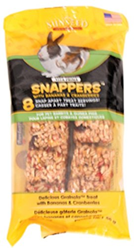 Vita Prima Guinea Pig - SUNSEED COMPANY 36050 Banana/Berry Vita Prima Snappers for Pet Rabbits and Guinea Pigs, 2 oz