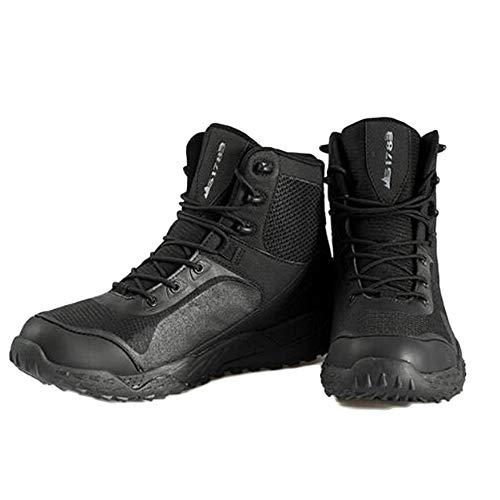 DSFGHE Stivali Tattico Militare Stivali Uomini Pattuglia di Sabbia Traspirante Leggero All'aperto Deserto Stivali Alti Scarpe Forze Speciali Black