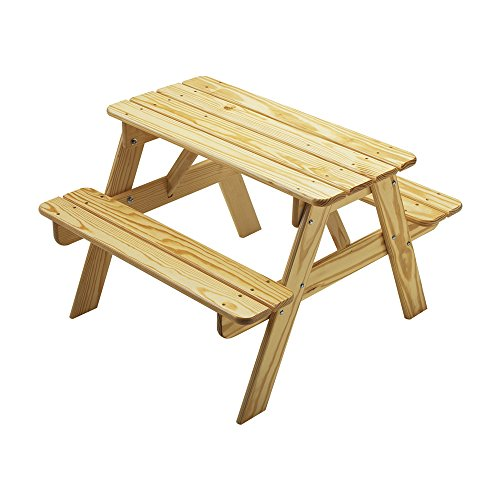 Little Colorado Kids Sit and Play Childs Picnic Table Natural Laquer (Colorado Picnic Tables Furniture Outdoor)