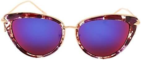 SojoS Womens Ladies Vintage Designer Metal Frame Cat Eye Sunglasses SJ1025