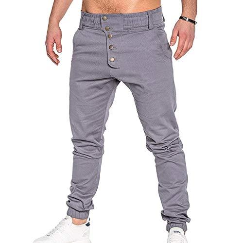Joggers En Cargo Plein Hommes Grau Confortable Prélasser Casual Sports Battercake Danse Élastique Air Se Sarouel Sportwear PqI144