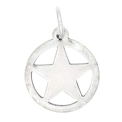 - Sterling Silver Medium Size Texas Ranger Badge Charm Star Charm Jewelry Making Supply Pendant Bracelet DIY Crafting by Wholesale Charms
