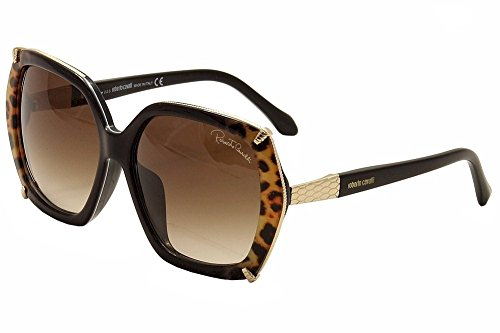 (Cavalli Sunglasses RC 993S-D Turais 05F Black Gold & Leopard Print 59mm)