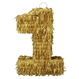 LYTIO Golden Number 1 Small Pinata Perfect for