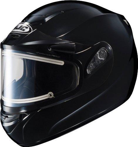 HJC CS-R2SN Solid Full Face Snow Helmet Framed Electric Shield (Black, Large)