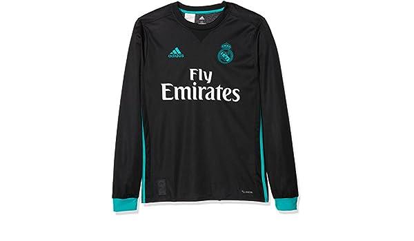04c841196 Amazon.com   2017-2018 Real Madrid Adidas Away Long Sleeve Shirt (Kids)    Sports   Outdoors