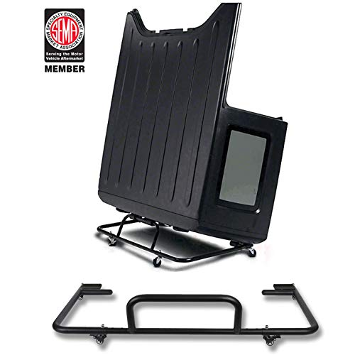 Hooke Road Jeep Wrangler Hard Top Carrier Storage Cart Rack Sliding for 1987-2018 Jeep Wrangler YJ TJ JK JL & Unlimited