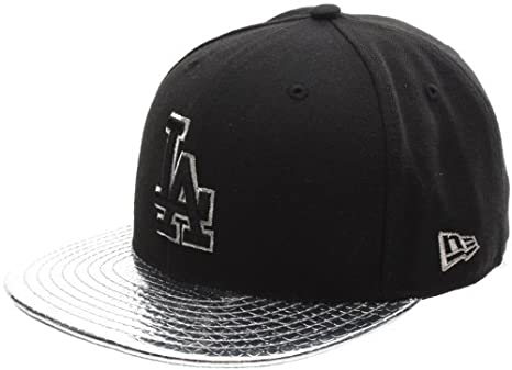 New Era Metallic Slither LA Dodgers Fitted Cap Black  Amazon.co.uk ... 663aa84f959
