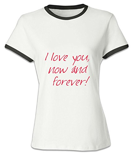 Eagle u2 women's popular T shirt I Love You Now And Forver black