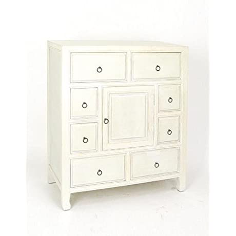 Wayborn Home Furnishing Suchow Apothecary Chest 36 X 32 X 16 White