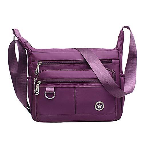 CHENGYI Viaggio per per Borsa da a Borsa Donna Nylon Purple Tracolla a Tracolla Donna Borsa a per Impermeabile Tracolla in Donna HtHrOq