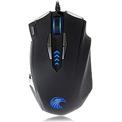 EUASOO Mouse Mice Z-7900 4000 DPI Metal Base MMO/FPS High Precision Optical Gaming Mouse (Pioneer Noise Cancelling)