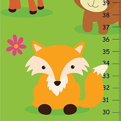 Friends Height Chart (Woodland Friends Canvas GROWTH CHART, Forest Animals Height Chart - Animals Theme Kid)
