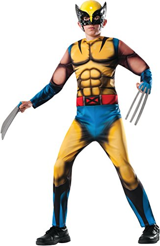 Child Deluxe Wolverine Costumes (Rubies Marvel Universe Classic Collection Deluxe Fiber-Filled Muscle-Chest Wolverine Costume, Medium (8-10))