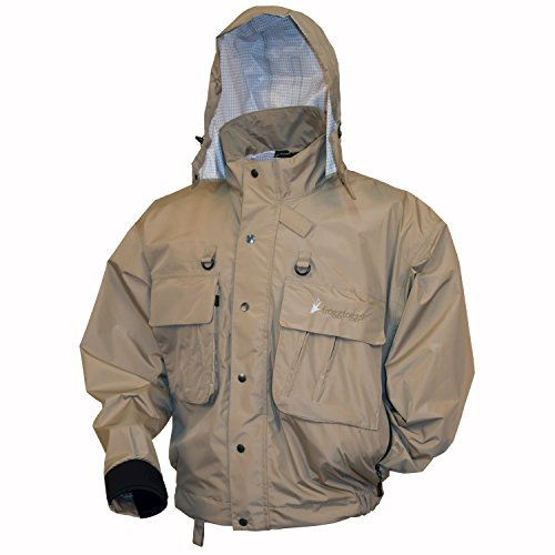 Frogg Toggs Java Hellbender Fly & Wading Jacket, Stone, Size XX-Large