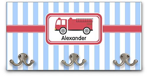 (YouCustomizeIt Firetruck Wall Mounted Coat Rack (Personalized) )