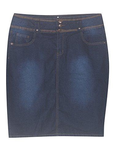 Plus Size Sassy Short Jean Skirt --Size: 14 Color: Blue