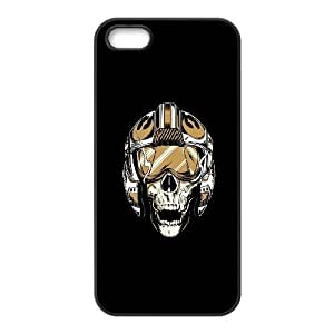 iPhone 4 4s Cell Phone Case Black Pilot Skull Illustration Y5D6BE
