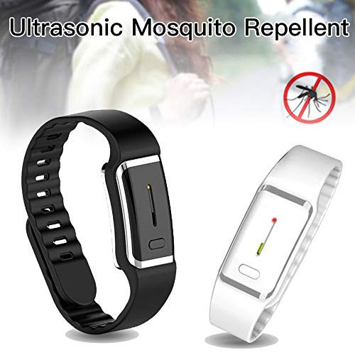 Bigens Ultrasonic Mosquito Repellent Bracelets Outdoor, Non-Toxic Electronic Mosquito Insect Repeller Wristbands Waterproof with USB Rechagerable for Adults and Baby Kids