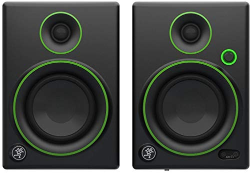 (Mackie Creative Reference Multimedia Monitor (Set of 2), Black w/green trim, 4-inch (CR4 (Pair)))
