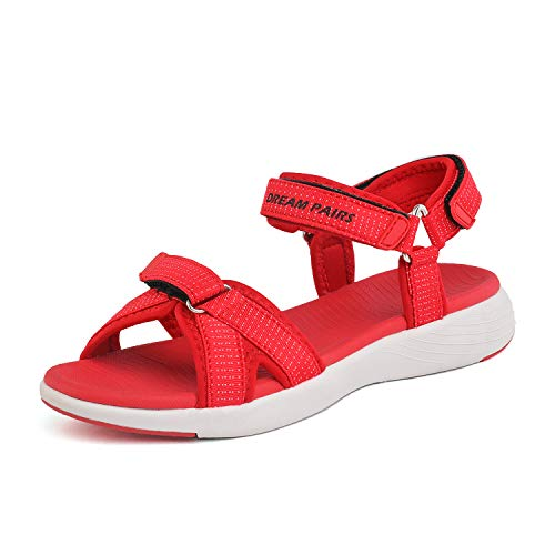 - DREAM PAIRS Women's Athletic Sport Sandals Hiking Sandal Red Size 8.5 M US QDL19001L