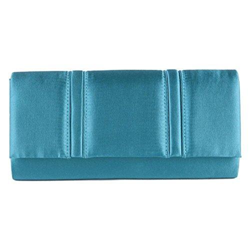 Borsa clutch, Rosalinda Azzurra, in raso