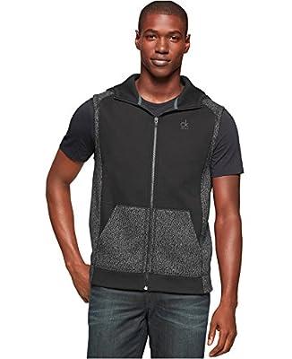 Calvin Klein Jeans Men's Melange Fleece Hoodie Vest