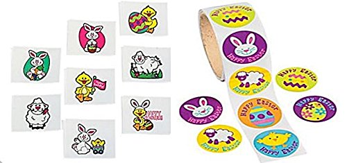 Easter Party Pack Stickers Tattoos